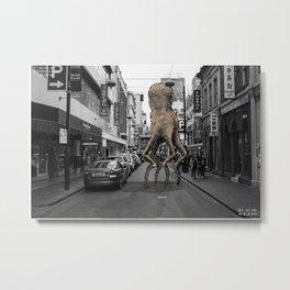 Unseen Monsters of Melbourne - Wabi Goons Milky Metal Print