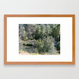 Peek A Boo River Framed Art Print