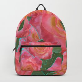 Pink Rose Pattern Backpack