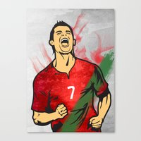 ronaldo Canvas Prints featuring Cristiano Ronaldo by Bunch of Fives