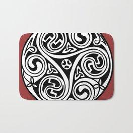 Celtic Art - Triskele - on Red Bath Mat