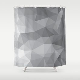 Gray Polygon Background Shower Curtain