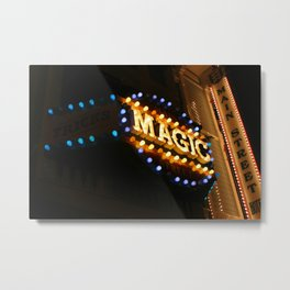 Main Street Magic Shop Marque (Nighttime No. 1) Metal Print