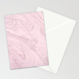 Urban Marble...pink with rose gold Stationery Cards
