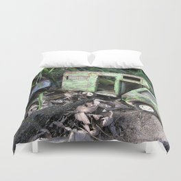 Rusty Toy Trucks Duvet Cover