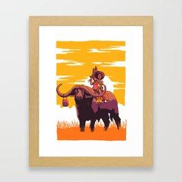 Buffallo-Rider Framed Art Print