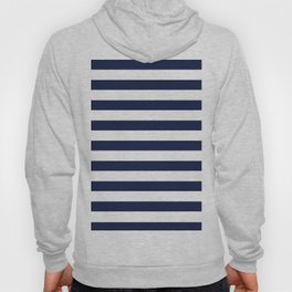 Nautical Navy Blue and White Stripes Hoody