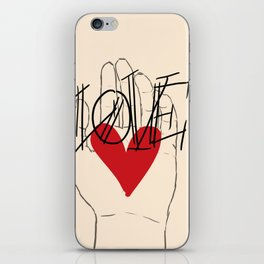 my heart in your hand iPhone Skin