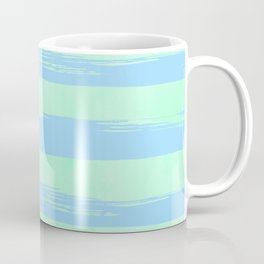 Trendy Stripes Blue Raspberry + Mint Meringue Coffee Mug