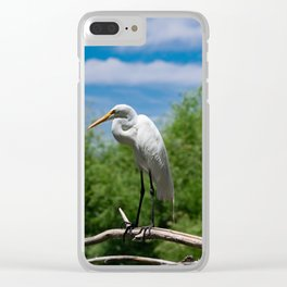 Great Egret Two - Utah Clear iPhone Case
