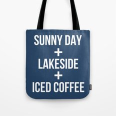 Sunny Day+Lakeside+Iced Coffee Tote Bag