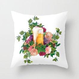 Beer Bouquet Throw Pillow