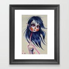 Elfving Study :: Blue Framed Art Print