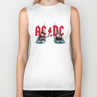 acdc Biker Tanks featuring ACDC by victimArte