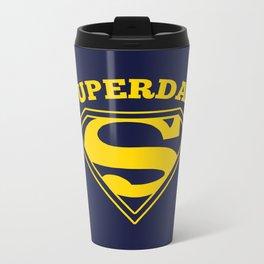 Superdad | Superhero Dad Gift Metal Travel Mug
