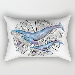 Space Whales Rectangular Pillow