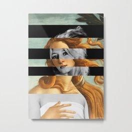Botticelli's Venus & Brigitte Bardot Metal Print