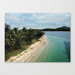 Tropical Beach Vibes in Fiji Islands Canvas Print