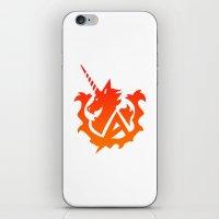 gundam iPhone & iPod Skins featuring Amuro Hi Nu Gundam Emblem by Nanico
