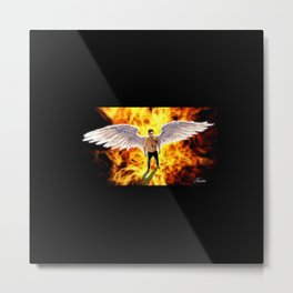 Lucifer Morningstar fire Metal Print