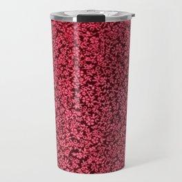 Vintage Floral Claret Ruby Red Travel Mug