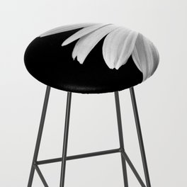 Half Daisy in Black and White Bar Stool