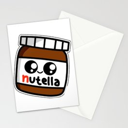 nutell nutel a chocolate new choco coco sticker stickers art new fun delicious cute hot 2018 Stationery Cards
