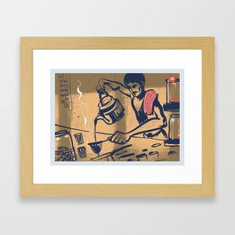 Tapri - Indian Tea Stall Framed Art Print