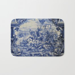 Portuguese traditional tile artwork Bath Mat