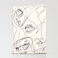 girls Stationery Cards featuring Girls by 5wingerone