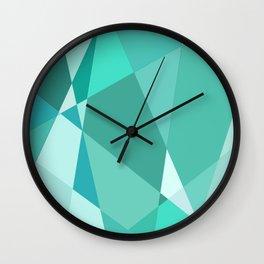 Minty Jagged Edges Wall Clock