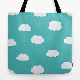 Cartoon Clouds Pattern Tote Bag