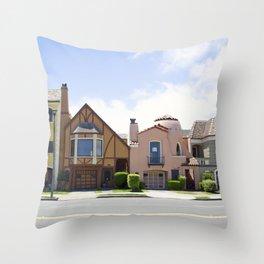 San Francisco beautiful houses Throw Pillow