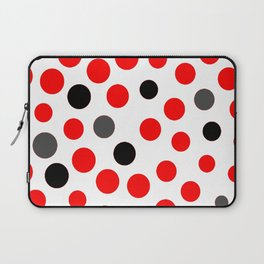 red grey black dots on white background pattern Laptop Sleeve
