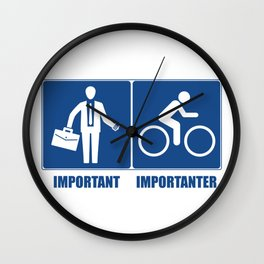 Work Is Important, Cycling Is Importanter Wall Clock