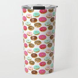 Donuts art print junk food pattern design kids minimal modern kitchen baking breakfast hipster baker Travel Mug