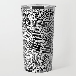 LOOK AT ALL THE FUCKS YOU DO NOT GIVE Travel Mug