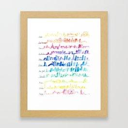 Skylines Across the World Framed Art Print