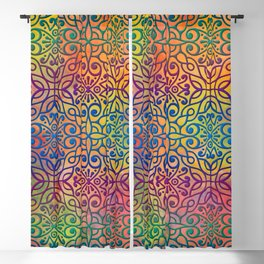 DP050-1 Colorful Moroccan pattern Blackout Curtain