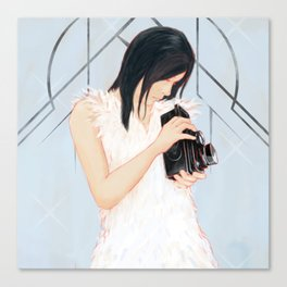 Rollei girl Canvas Print