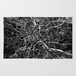 Krakow Black Map Rug