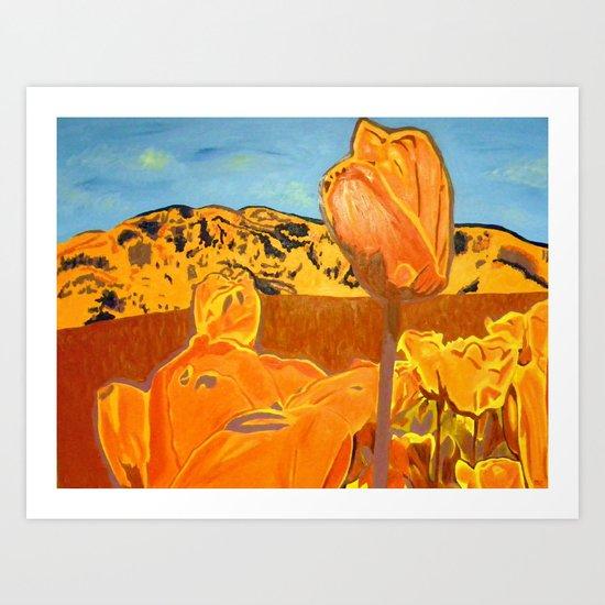 Orange Terrain Art Print