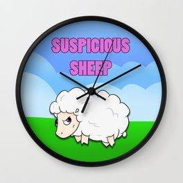 Suspicious Sheep Wall Clock