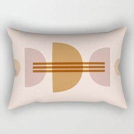 Amber Abstract Half Moon 1 Rectangular Pillow