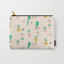 Plant Lady Scandinavian Apartment Pattern - Peach Carry-All Pouch