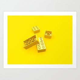 Duplo Yellow Art Print