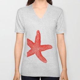 Coral Starfish 1 Unisex V-Neck