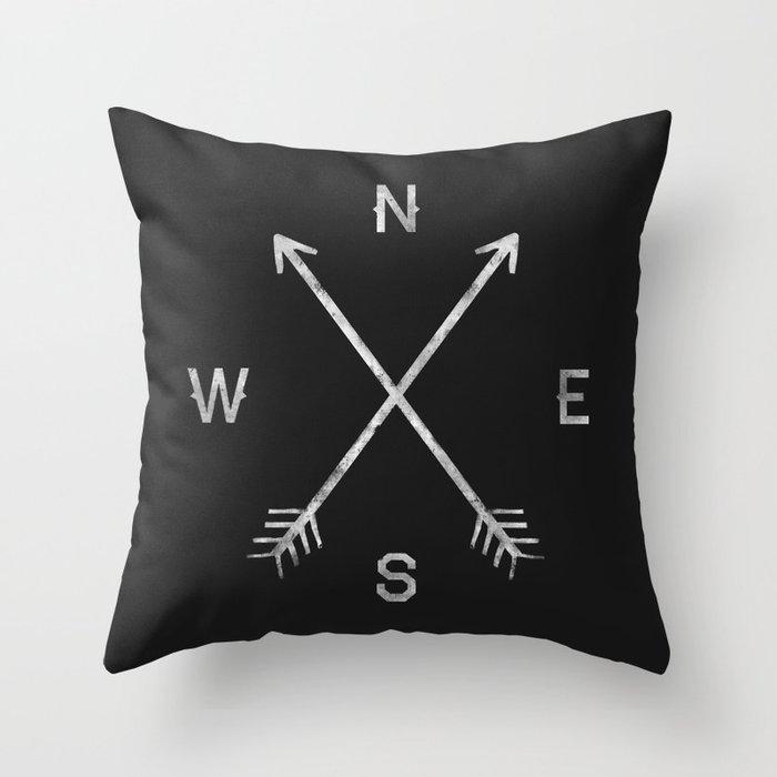 Compass Throw Pillow by zachterrell