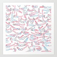 workout Art Prints featuring Workout by Jacopo Rosati