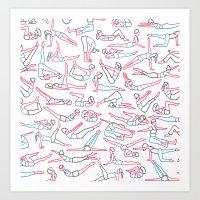 workout Art Prints featuring Workout by Jacopo Rosati